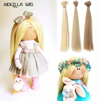 Doll Accessory Dolls Wig Hair Pure Multicolour 15cm/25cm*100CM 1PC 1/3 1/4 Straight Wig Hair for BJD DIY Accessories Kids Toys doll accessories 1 3 1 4 1 6 bjd wig doll hair lon straight girl wig multicolour available high wire faux fur wig fb12