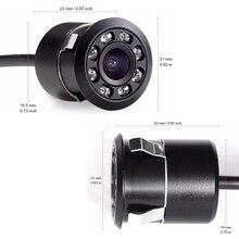 Новая водонепроницаемая HD CCD 8LED камера заднего вида ночного видения 170 широкоугольная Универсальная автомобильная резервная парковочная камера 318L