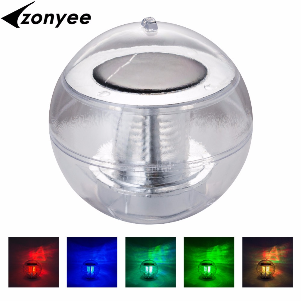 Solar Led Powered Color Changing Water Floating Ball Lamp