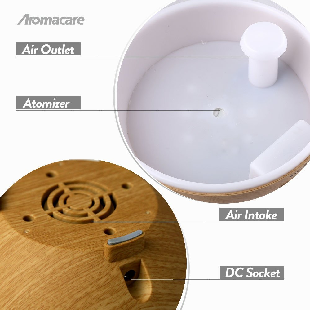 Aromacare Aroma Essential Olie Diffuser Ultralyd Luft - Husholdningsapparater - Foto 5