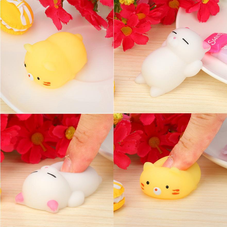 Drop shipping Animal Cat Cute Mochi Squishy Squeeze Healing Fun Kids Kawaii Toy Stress Reliever Toy Gift for kids juegos de me