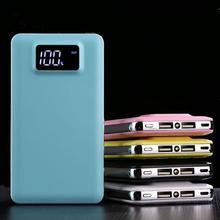General Portable 30000 mAh Power Bank Dual USB External Battery Charger Digital Display Slim Phone Powerbank With LED Light