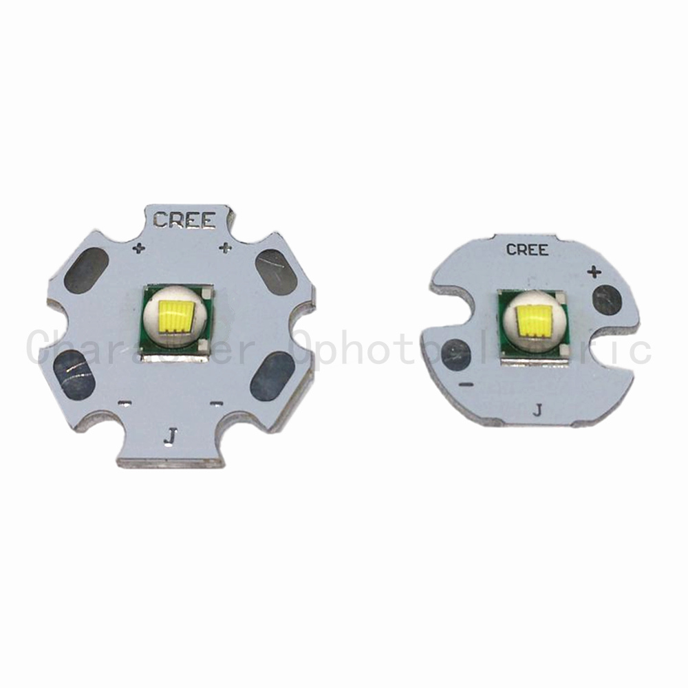 1 PCS CREE XML LED T6 U2 10W WHITE High Power LED Emitter with 12mm 14mm 16mm 20mm PCB for DIY 1pcs cree xml led xml2 led t6 u2 driver 17mm 20mm 2 7 4 2v 2 2 2a 5 mode led driver for cree xml led emitter