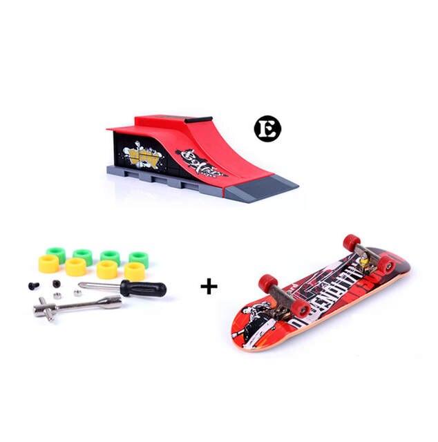 4d5fa677389 placeholder Modelo E Peças para Tech Deck Fingerboard Dedo Skate Park Rampa  e Placa do Dedo Passo