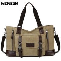 Canvas Unisex Gym Bag Retro Style Traveling Storage Handbag Fitness Training Sports Bag