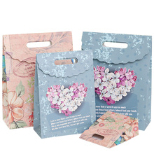 10pcs/lot Beautiful European butterfly Flowers Paper Bag  Cake packaging Kraft Multifunction Gift Bags