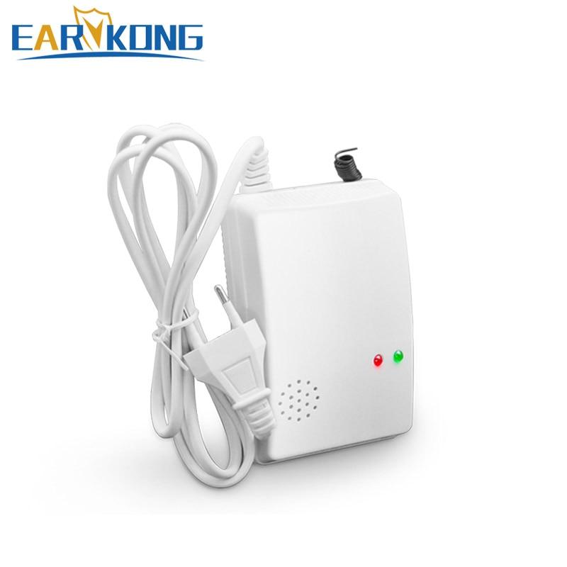 433MHz Wireless Poisonous Gas Leak Detector CO Detector For PSTN Wifi GSM Home Burglar Alarm System gas leakage sensor