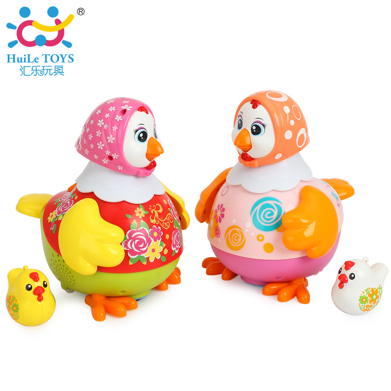 HUILE TOYS 6102 Chicken Toys Funny Animal Hens Lay Eggs Singing Dancing Electric Chicken Pet Toys for Children Gift cox p r phonics readers hens pens