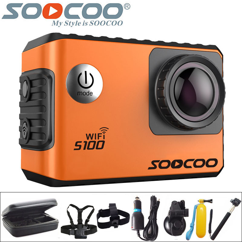 SOOCOO S100 Action Camera 4K WiFi Sports DV Full HD 1080P Gyro 30m Waterproof Diving Mini Camcorder 2.0 inch Sport Cam NTK96660 1080p eken h9 ultra hd 4k wifi 2 0 inch action sport camera video camcorder