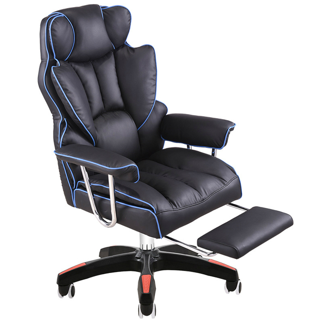 Luxurious Gaming Chair Home Reclining Comfortable Massage Boss Chair Seat with Footrest Lifted Swivel Office Chair Silla Gamer
