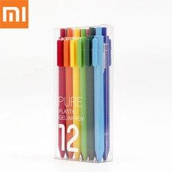 Xiaomi Mijia KACO kolorowy pisak do kaligrafii 12 kolorów 0.5mm wkład z tworzywa ABS długość zapisu 400m