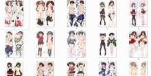 Kantai collection aircraft carrier anime Personaggi Kaga e Ryujo cuscino di tiro della copertura Zuiho & Taiho (kancolle) Federa del corpo