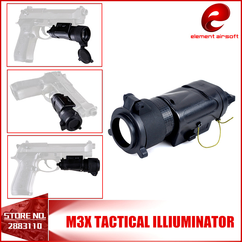 Element L-3 Warrior Systems Light SF M3X Tactical Illuminator US Army Pistol Light EX 185 02 champagne
