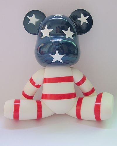THE US FLAG fashion momo bear New 7 inches (18 cm )  gloomy bear promition gifts toy