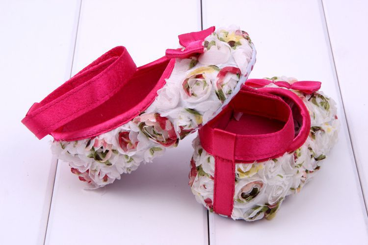 Todder Baby First Walkers Flowers shading bow Newborn Baby Shoes soft sole