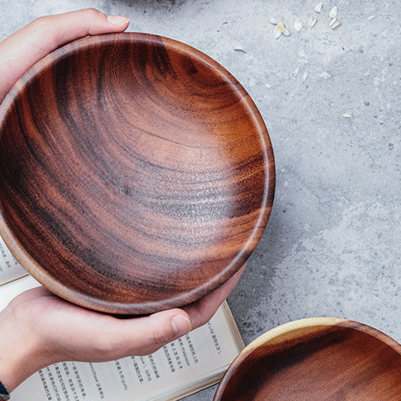 Hand-made Solid Dining Serving Bowls 1