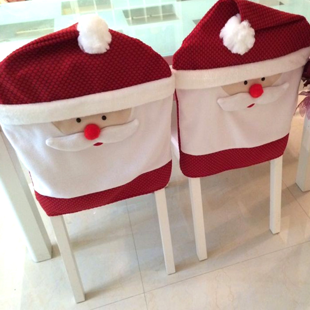 1 Pcs Christmas Chair Cover Xmas Home Dinner Table Party Decoration Navidad Decorations For