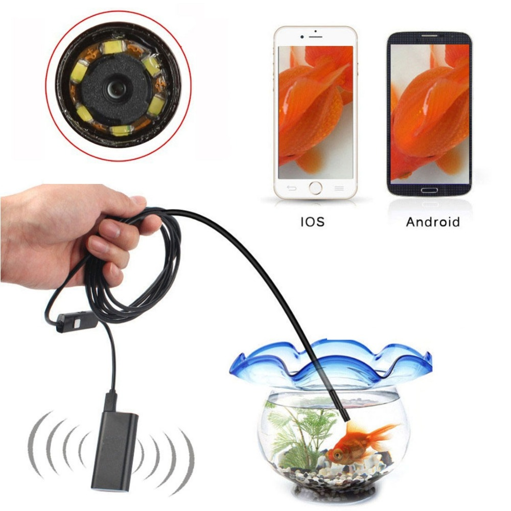 5.5mm WiFi USB Endoscope for IOS Android Phone OTG Borescope Snake - Mobile Phone Accessories and Parts
