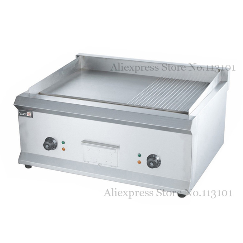 Electric griddle commercial iron flat upgraded stainless for Teppanyaki grill gas