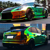 50*135 Glossy Car Body Film Colorful Exterior Vinyl Car Wrap Electro Coating Color Change Car Styling Stickers