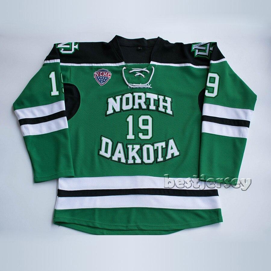 Kowell North Dakota Fighting Sioux 19 Shane Gersich Stitched Hockey Jersey цена 2017