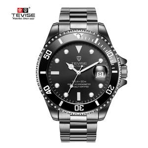 Image 4 - TEVISE גברים שעונים אוטומטי מכאני גברים של שעון יוקרה מותג עמיד למים זוהר Mens לוח שנה שעון יד Relogio Masculino