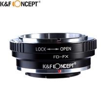 K&F CONCEPT FD-FX Camera Lens Adapter Ring of Aluminum For Canon FD Lens to For Fujifilm X Mount Fuji X-Pro1 X-M1 X-E1 M42 X-T1