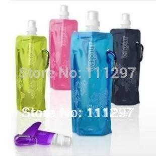 Reise Portable Faltung wassersack/umweltfreundliche flasche/sport tassen eisbeutel flüssigkeitsflasche taschen 200 teile/los-in Wasserflaschen aus Heim und Garten bei  Gruppe 2