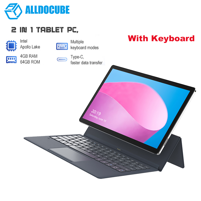 ALLDOCUBE Nuvision 2-In-1 Tablet PC With Keyboard 11.6'' Windows 10 Intel Apollo Lake N3350 4GB RAM 64GB SSD 5MP+2MP Cam Tablets