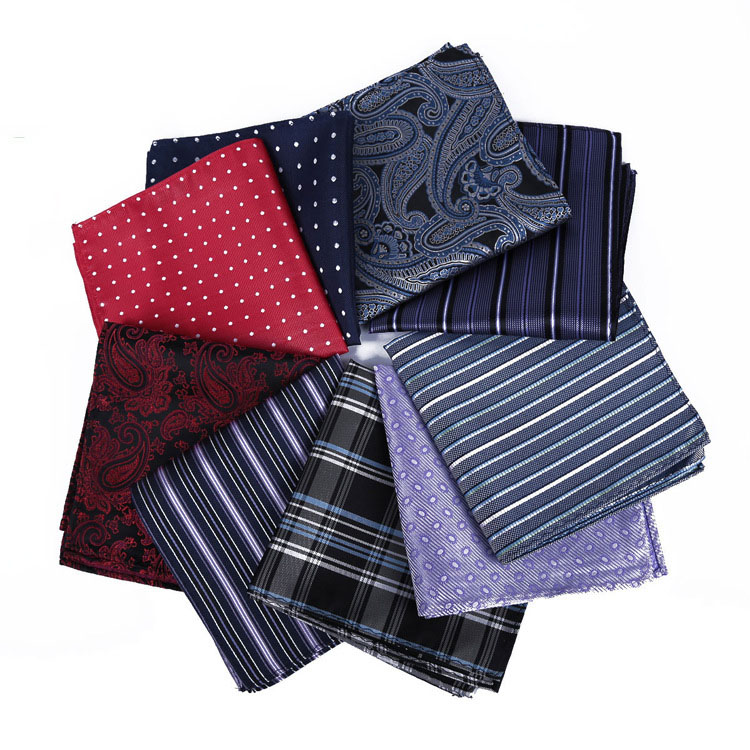 Discount New Mens 100% Silk Handkerchiefs Floral Paisley Pocket Squares For Suits Jackets Wedding Party Business Many Patterns