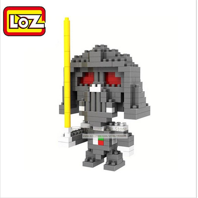 LOZ Star Wars Diamond Block Anime R2-D2 Yoda Darth Vader Assemblage Kungfu Po Action Figure 3D Educational Toys Birthday Gifts