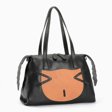 2016 vintage Genuine leather designer cat's face handbags famous brand  bags fashion shoulder bag fashion saffiano messenger bag