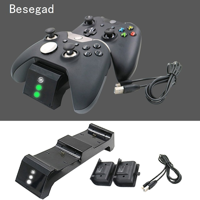 besegad 3 in 1 dual wireless controller charger charging station