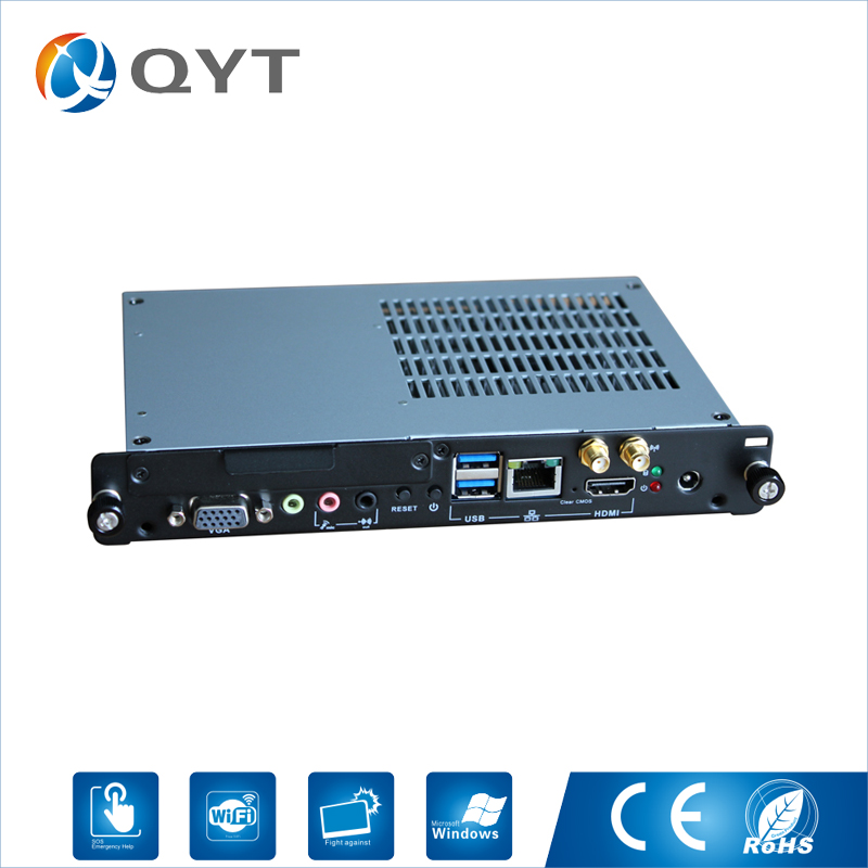 OPS компьютер/промышленных мини ПК с Intel J1900 2.0 ГГц с 8 ГБ DDR3 500 г HDD с VGA USB RJ 45 HDMI