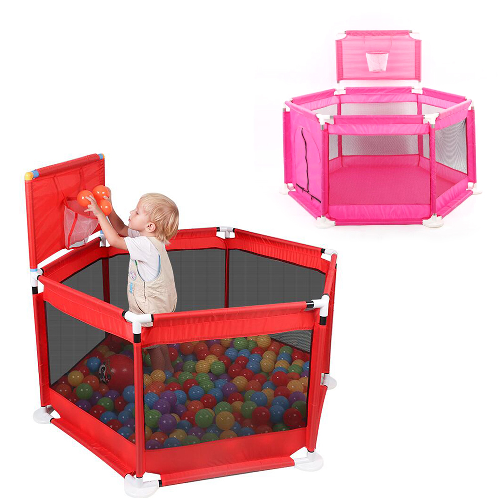 Baby Playpen Fence Children's Playpen Kids Ball Pool Folding Barrier For Babies Oxford Cloth Baby Fence Child Safety Barrier