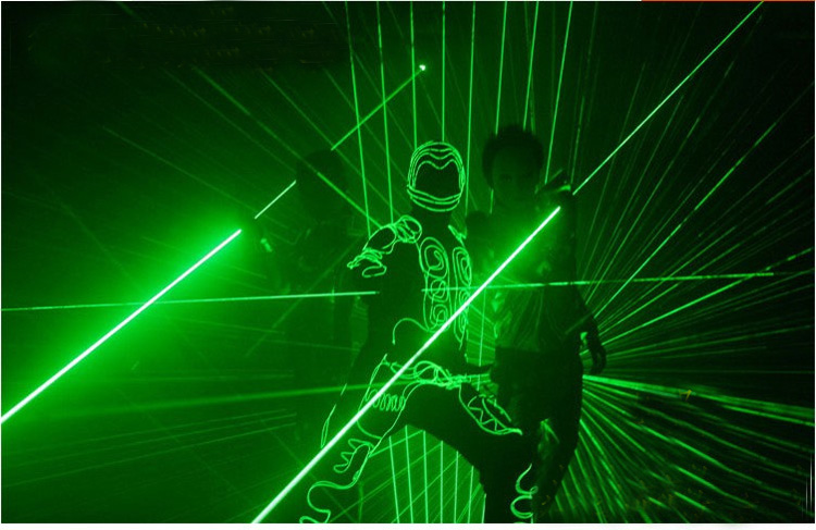 Dual head green laser pointer green laser sword for dj party club laser show light wide beam laser laser head soh r48 gdrom 17p