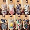 Ventas Calientes del resorte de Corea de Las Mujeres de Manga Corta Del O-cuello Mezcla de Algodón Flojo Ocasional del verano T-shirt