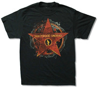 O Neck Short Sleeve Mens Shirts Hollywood Undead Walk Of Fame Black T Shirt New Official