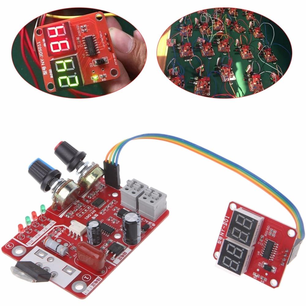 Spot Schweißer Zeit Control Board 40A Strom Controller mit Digital Display M13