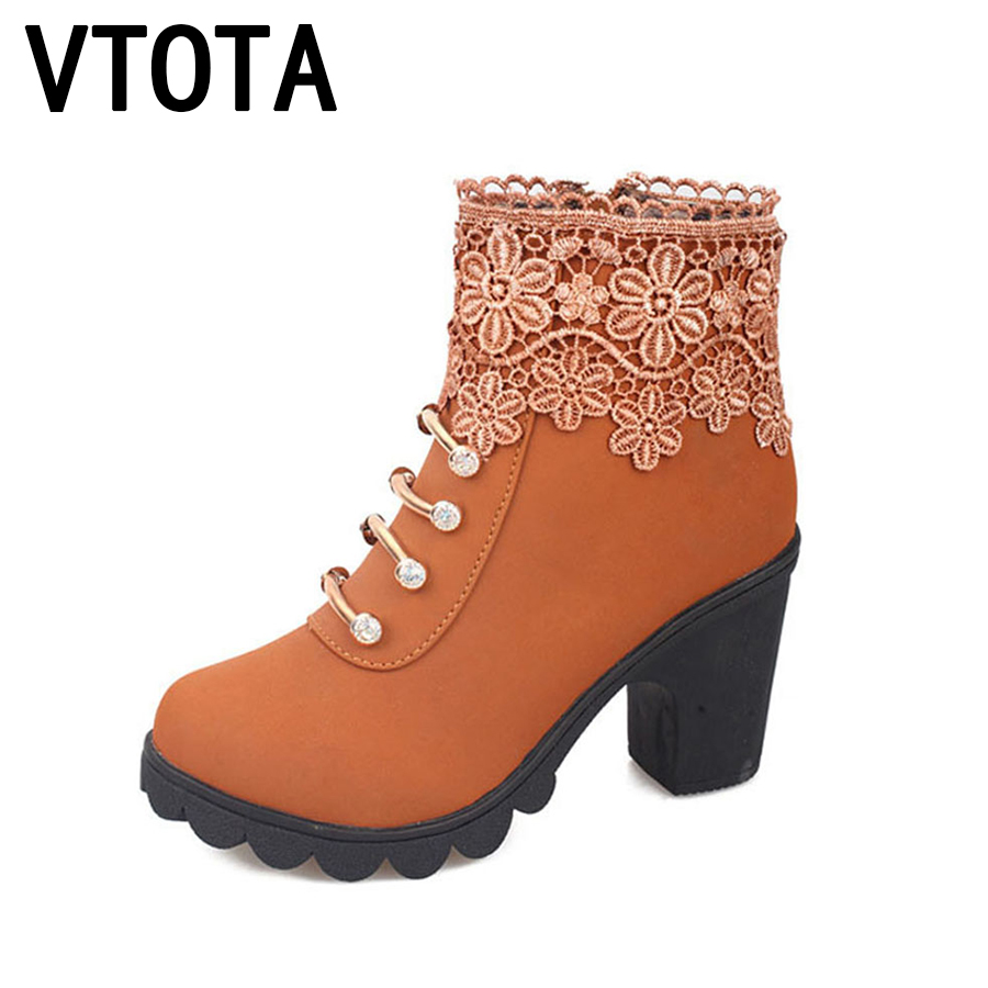 VTOTA Martin Boots Women Fashion Women Boots  2017 Ankle Boots Shoes Woman botas mujer Platform Ankle Boots For Women B102 vtota spring autumn martin boots fashion boots women high heels shoes woman botas mujer ankle boots platform bota feminina fc24