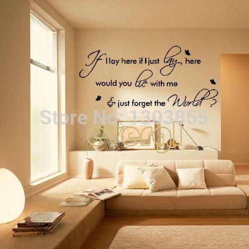 Bedroom Wall Stickers Song Lyrics bruno mars Amazing music song ...