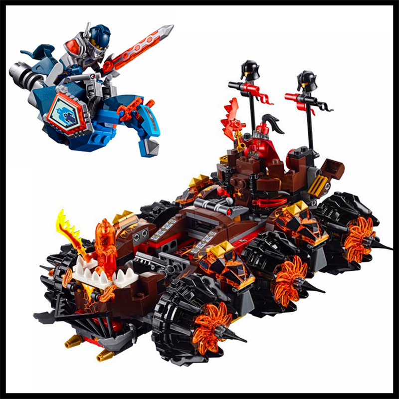 544Pc Knights General Magmar's Siege Machine Building Block DECOOL 8017 Construction Toys Gift For Children Compatible Legoe decool 3114 city creator 3in1 vehicle transporter building block 264pcs diy educational toys for children compatible legoe