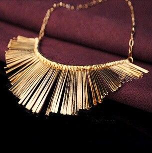 SHUANGR Bijoux de mode femmes déclaration colliers et pendentifs gland Collier ras du cou Bijoux Collier Femme Collares Mujer