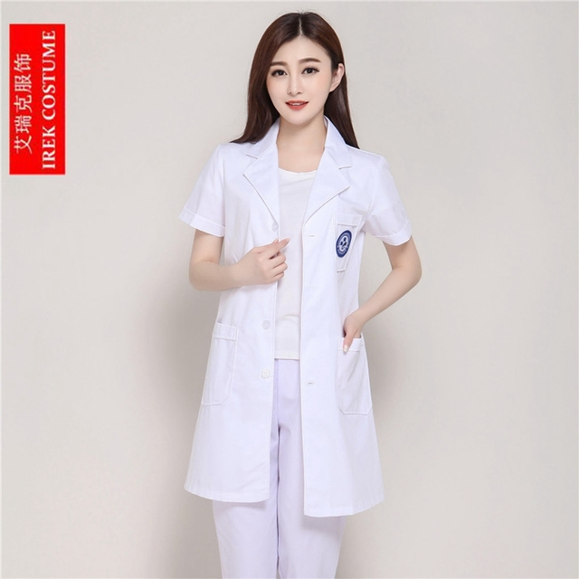 2018 New Women Doctor\'s Overall Lab Coat Long Gown Hospital Nurse ...