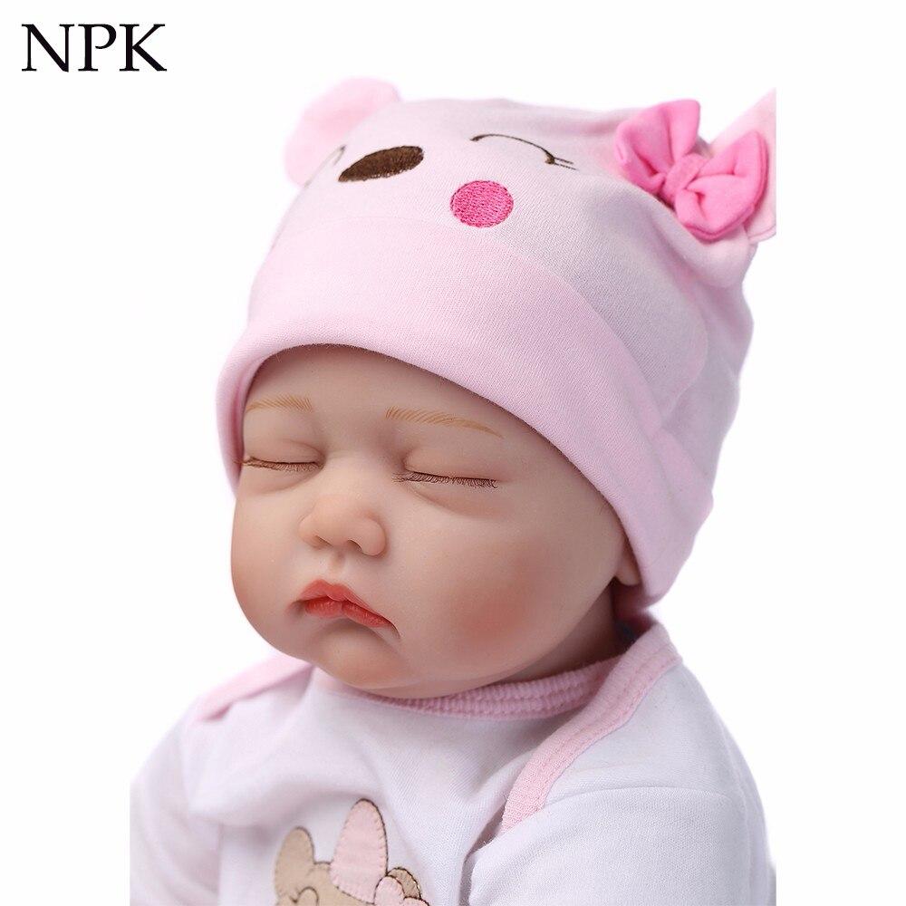 NPK 40 cm bebe realista reborn poupée réaliste fille reborn bébés silicone poupées jouets pour enfants cadeau bonecas pour enfants poupée 16