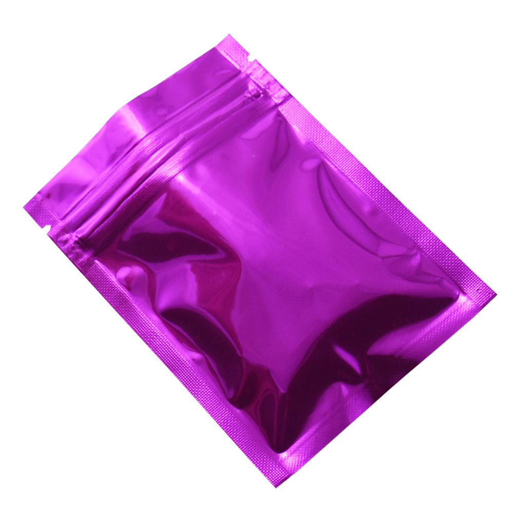 1000pcs lot 7 5 10cm Reclosable Purple Wholesale Self Seal Aluminum Foil Zip Lock Packing Pouch Mylar Packing Bag DHL Shipping in Storage Bags from Home Garden