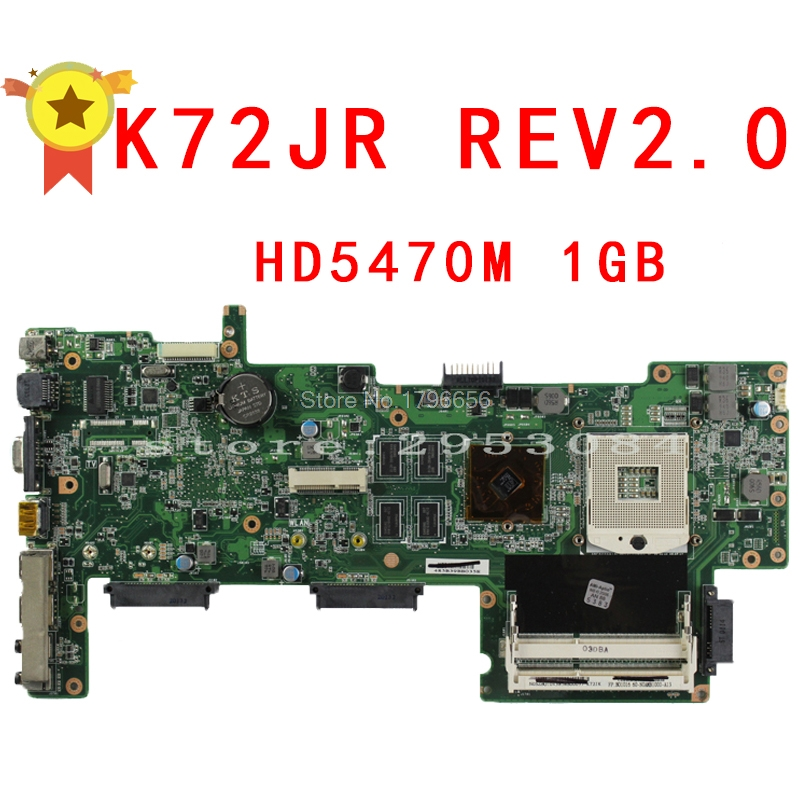 K72JR REV:2.0 motherboard for ASUS K72JU K72JK K72JT K72JR laptop motherboard 1G HM55 PGA989 mainboard 100% working hot selling k72ju k72jt laptop motherboard for asus x72j mainboard hm55 hd6370m rev2 0 1gb ddr3 216 0774211 fully tested 100