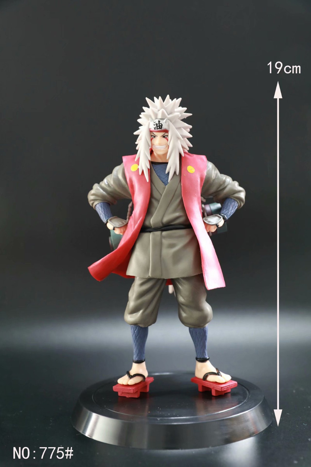 19cm Naruto Jiraiya Action Figure PVC New Collection figures toys brinquedos Collection 2pcs set 13cm naruto kurama kyuubi anime action figure pvc new collection figures toys brinquedos collection