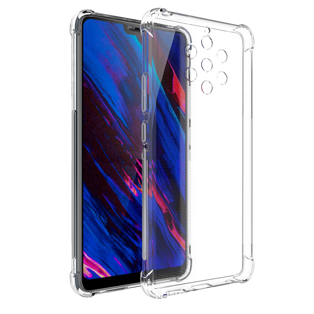 Clear Silicon Soft TPU Case For <font><b>Nokia</b></font> 9 PureView C9 <font><b>TA</b></font>-<font><b>1004</b></font> <font><b>TA</b></font>-1005 <font><b>TA</b></font>-1054 A1 Plus 5.99 In Airbag Four Corners Anti-Drop Cover image