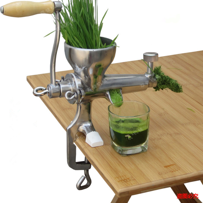 304 Stainless steel Hand Wheatgrass Juicer Manual Auger Slow Squeezer Fruit Wheat Grass Vegetable juicer juicer home use stainless steel healthy wheatgrass juicing machine manual auger slow juicer zf